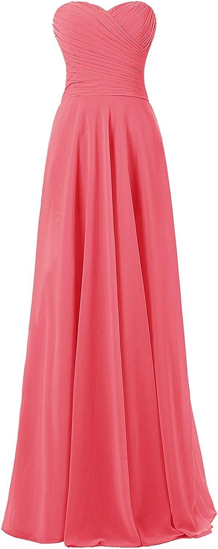 DianSheng Womens Long  Ruffle Bridesmaid Evening Dress Prom Formal Gown CK108