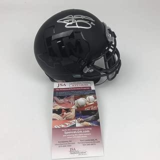 Autographed/Signed Johnny Manziel Texas A&M Aggies Black College Football Mini Helmet JSA COA