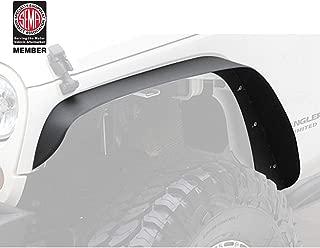 Hooke Road Front & Rear Flat Fender Flares for 07-18 Jeep Wrangler JK & Unlimited - 4PCS Set