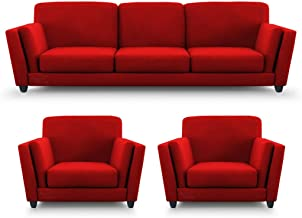 Amazon.in: Red - Sofa Sets / Living Room Furniture: Furniture