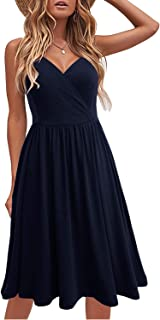 Berydress - Vestido de verano casual para mujer, con bolsillos
