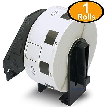 1ロール ブラザー ラベル 23mm x 23mm (1000枚) Brother DK-1221 食品表示ラベル 感熱ラベルプリンター用 QL-800 QL-820NWB QL-700 QL-550 QL-720NW QL-650TD