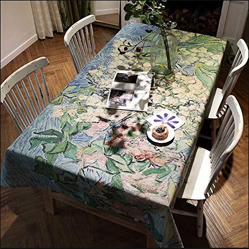 GGFHH Tafelkleed, Stof Stain Proof Waterdicht Wasbaar Blended Rechthoekig Tafelkleed voor Restaurant Keuken Eettafel Bureau 140x220cm