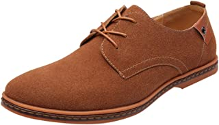 ONLY TOP Men's Classic Suede Leather Oxford Dress Shoes Business Casual Shoes