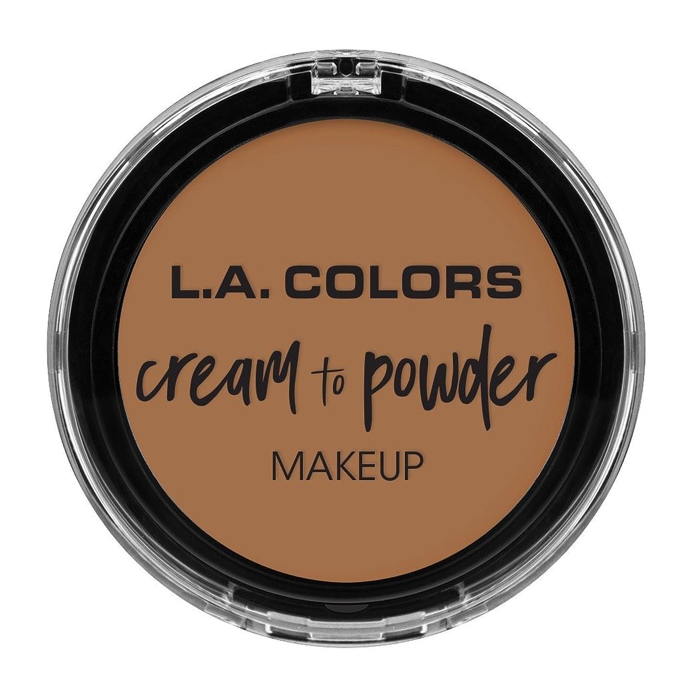 白内障否認する作詞家L.A. COLORS Cream To Powder Foundation - Soft Honey (並行輸入品)