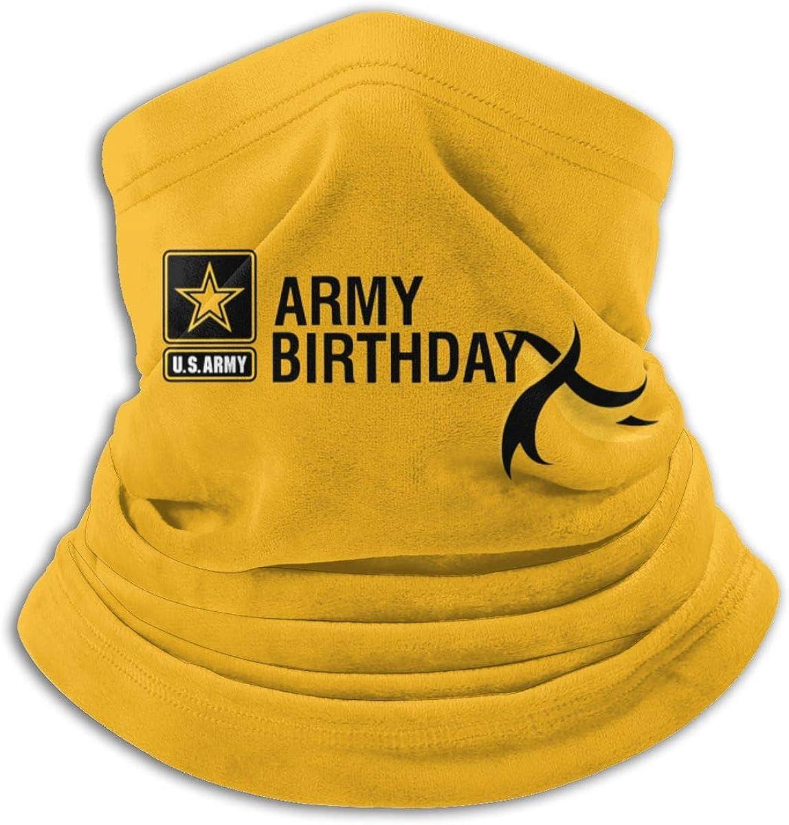 Us Army Birthday Black Multi-function Neck Warmer Gaiter Polyester Neck Warmer Windproof Winter Neck Gaiter Cold Weather Scarf For Men Women