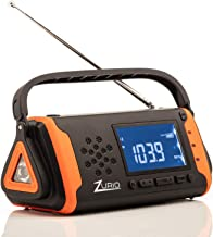 Emergency Radio with NOAA Weather Alert – Hand Crank & Solar Power – AM FM Survival Shortwave Radio with Flashlight, Cell Phone Charger, SOS Alarm, Battery Backup, Bonus Survival Whistle