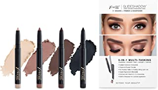 NEW Xtreme Lashes Glideshadow Long Lasting Eyeshadow Stick Quad Collection - Cream to Powder - Compatible with Eyelash Extensions - No powdery fallout or buildup along lash line
