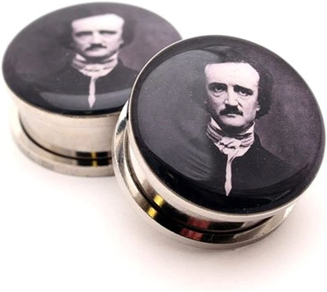 Be super welcome Mystic Metals Body Max 64% OFF Jewelry Screw on - Pict Allan Plugs Edgar Poe