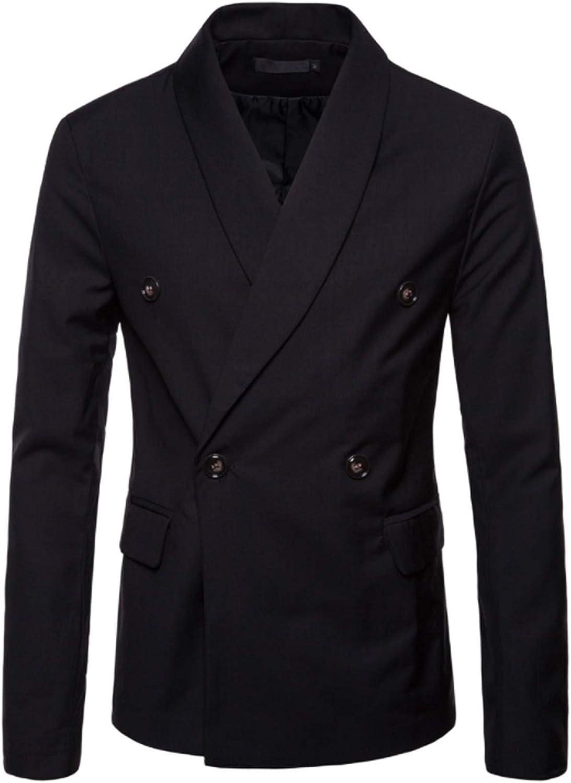 Bestgift Men's Solid Color Slim Fit Business Suit Jakcet