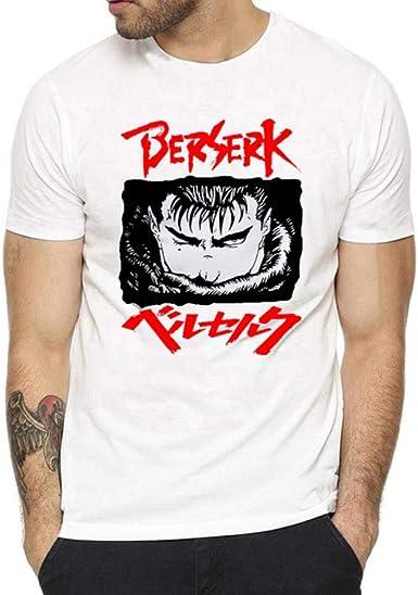 Camisa de Anime Berserk para Hombre Camiseta de Manga Corta Masculina Manga Guts Junji Ito Camiseta estética Camiseta de animación de Marca destacada ...
