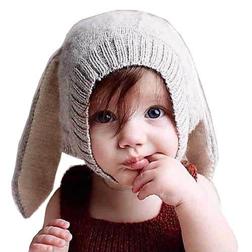 aafa195131478 Tuopuda Baby Boy Girl Knitted Cartoon Bunny Ear Beanie Hat Cap Cute Kids  Winter Warm Crochet