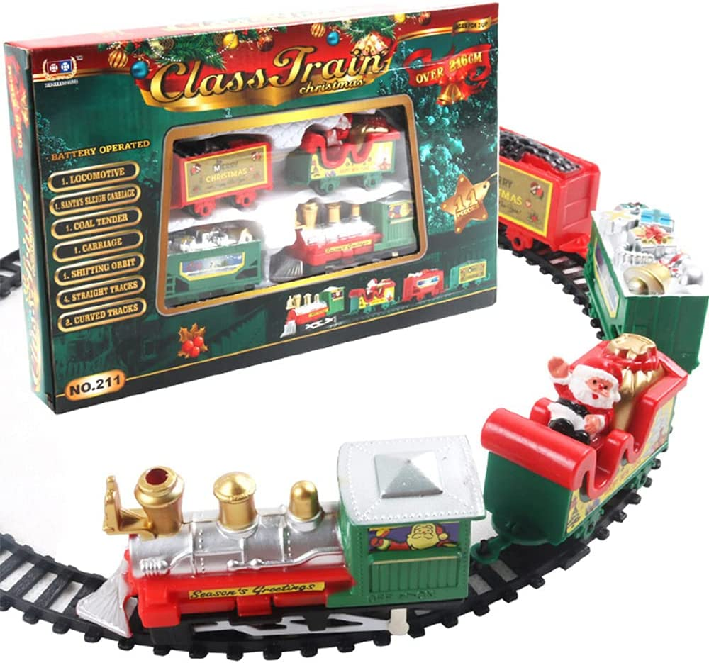 Christmas Limited time cheap sale Electric Train Set Operated Railway Battery Popular products