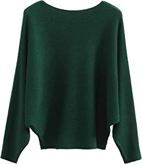 Women's Batwing Sleeves Knitted Dolman Sweaters Pullovers...
