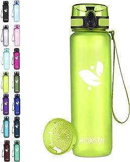 AORIN Sport waterfles - 350ml/500ml/750/1L, Tritan Gym Fles BPA Free & Drinkflessen, Lekvrij, One Click Flip Deksel/Kinder...