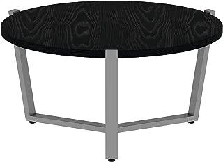 Alera ALE Round Occasional Coffee Table, 29 3/8 dia x 15 1/2h, Black/Silver