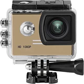 Sport Camera Mini Full HD Car Action Sports Camera Fotografie Accessories Kit (Color : Gold, Size : One size)