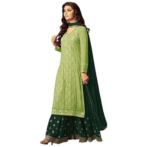 971d470b8e ziya Indian/Pakistani Ethnic wear Georgette Plaazo Salwar Kameez Black