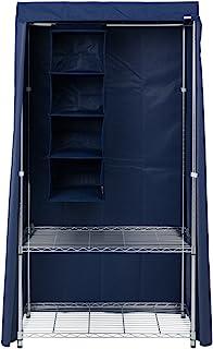 ルミナス メタルラック ワードローブ用カバー ネイビー 幅92×奥行46×高さ173cm LWK-NV LWK-NV