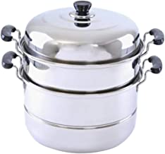 Royalford RF5014 Multipurpose Double Layer Steamer Pot - 30 cm and 9 Litres, Silver