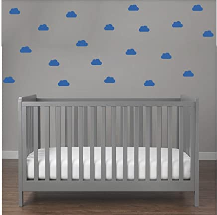 Blau Hei/ßluftballon mit WOLKEN SET 20 teilig Wandtattoo Wandaufkleber Sticker Aufkleber Wand Himmel Baby