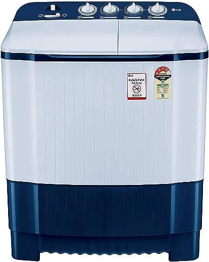 LG 6.5 Kg 4 Star Semi-Automatic Top Loading Washing Machine (P6510NBAY, Dark Blue, Rat Away Technology) 1