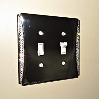 Swarovski ACCENT CRYSTALLIZED Switch Plate Toggle Rocker Light Switch Cover Bling Crystals Chrome