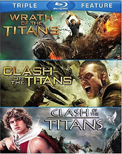 TITANS Triple Feature BLU-RAY Set (Clash of the Titans 1981 & 2010/Wrath of the Titans 2012) All 3 Great Movies Together