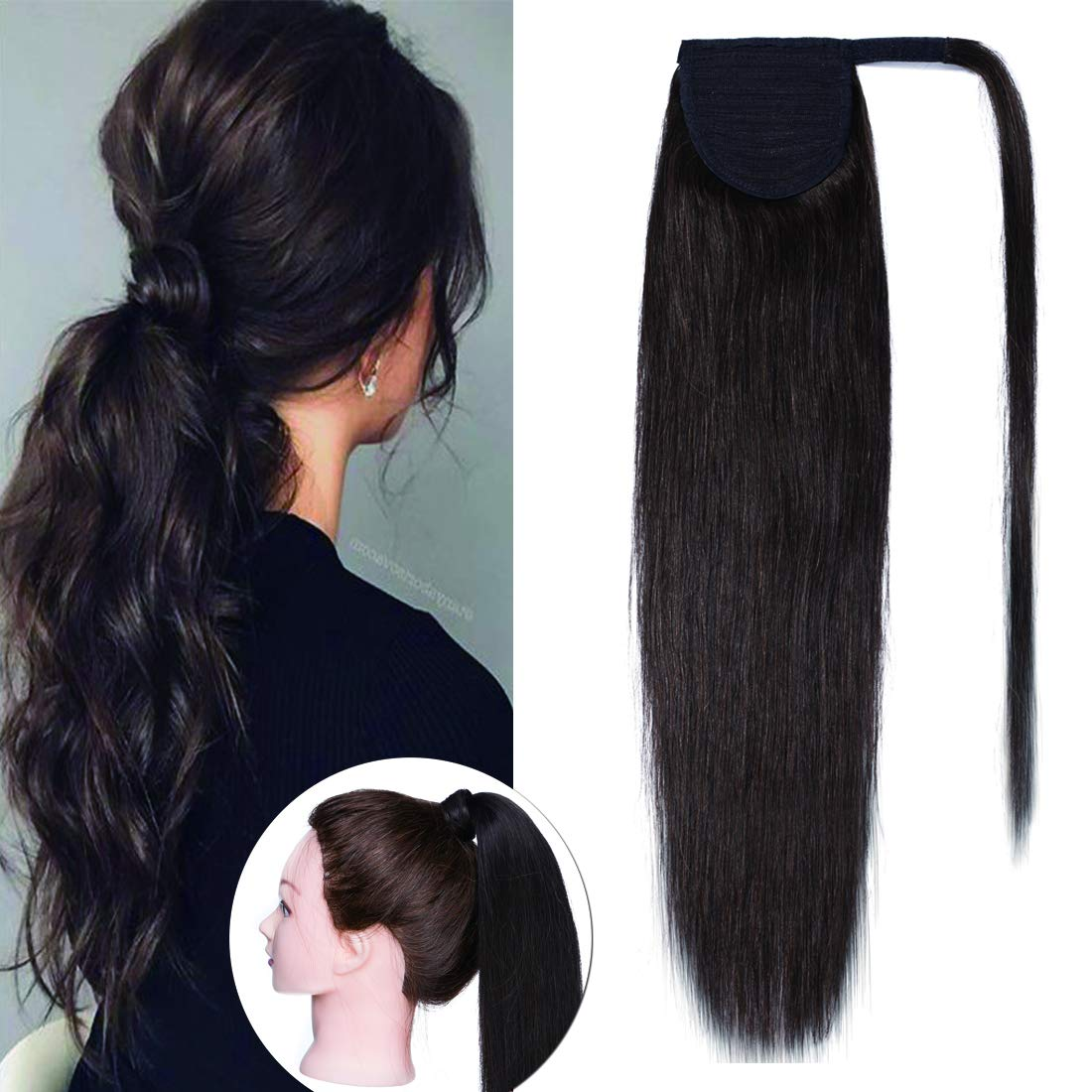 SEGO Ponytail Extension Human Overseas parallel import regular item Hair Wr Extensions Tails Pony Weekly update