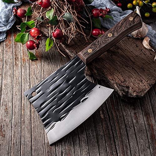Cocina de acero inoxidable Cuchillo de corte de pesca Hecho a mano Cuchillo Cuchillo de carne Sharp Cleaver Pro Outdoor Cutter Cutter Tools