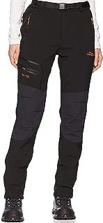 Pantalones de Montaña Mujer Impermeables Invierno Calentar Pantalones Trekking Escalada Senderismo Softshell