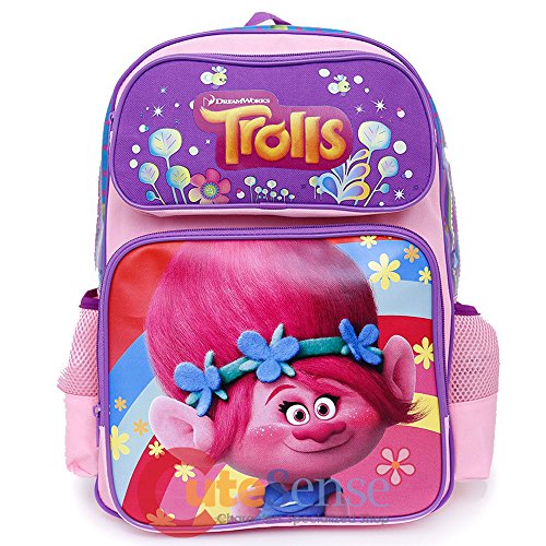 Dreamworks Trolls Poppy 16' Large Girls School Backpack