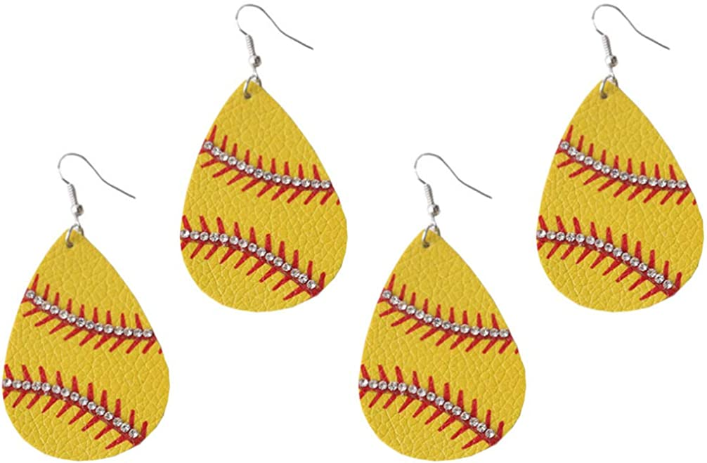 PRETYZOOM 2 Pairs Of Easter Faux Leather Earrings Colorful Egg Pattern Festive Jewelry Supplies Lovely Ear Bobs Distinctive Ear Adornments Assorted Color 4