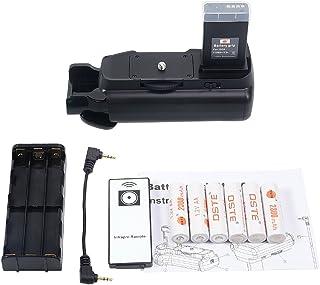 DSTE® Remoto empuñadura de batería Compatible con Canon EOS 1100d Rebel T3 Cámara réflex digital Rebel T6 con 6pcs AA Pilas