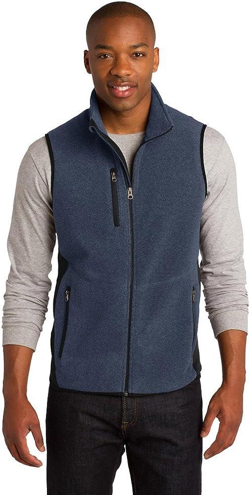 Port Authority R-Tek Pro Fleece Full-Zip Vest, Navy Heather/Black, XXXX-Large