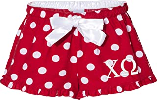 Chi Omega Flannel Boxers - Polka Dot