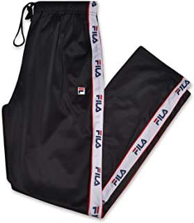Mens Big and Tall Track Pants with Logo Taping Down Legs
