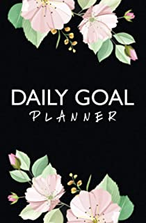 Floral Daily Goal Planner: To Do List Checklist Notebook To Achieve Goals, Increase Productivity, And Time Management.
