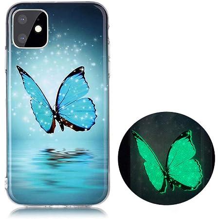 YiKaDa - Cover per iPhone 11 PRO, Custodia Luminosa Morbida in Silicone TPU, Cover [Ultra Sottile] per iPhone 11 PRO 5.8 inch - Glitter Farfalle