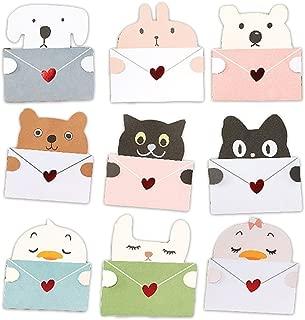(moin moin) メッセージ カード 動物 アニマル 9種セット メッセージを抱える メッセージカード 封筒付 (犬/ひよこ / ひよこ2 / 熊 (くま) / 猫(ねこ) / 猫2 / しろくま/ピンクうさぎ/しろうさぎ)
