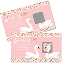Big Dot of Happiness Swan Soiree - White Swan Baby Shower or Birthday Party Game Scratch Off Cards - 22 Count