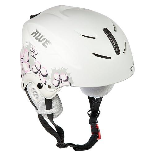 AWE® Pour enfants filles Ski casque blanc/rose Taille: 52-56cm