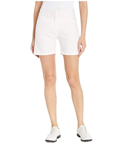adidas Golf Club 5 Solid Shorts (White) Women