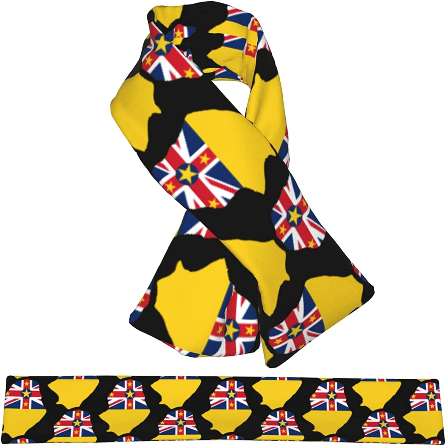 Flag Map Of Special sale item Niue Flannel Cross Warm Scarf It is very popular Collar Neck Shawl Wrap