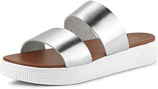 Allegra K Women's Comfort Dual Straps Slides Sandals