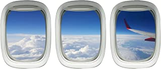 Airplane Wing Stickers - Plane Window Clings Clouds Wall Decor VWAQ-PPW27