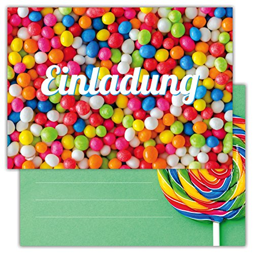 Einladungskarten für Kindergeburtstage für Jungen oder Mädchen (Luftballons, 12 Stück im Kartenset)