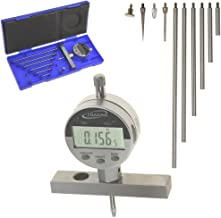 "iGaging Depth Gauge Digital Electronic Indicator 0-22"" Measuring Range, 0.0005"" Resolution, 2-Position Base (Inch/MM/Fract..."