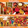 1100PCS Fall Artificial Maple Leaves Thanksgiving Autumn Leaf Wedding Party Table Decor, Multicolored #1