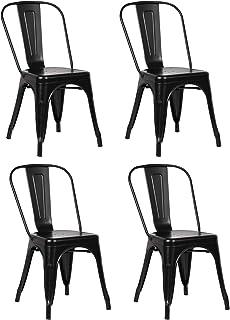 Nicemoods Metal Stackable Dining Chairs Indoor-Outdoor...